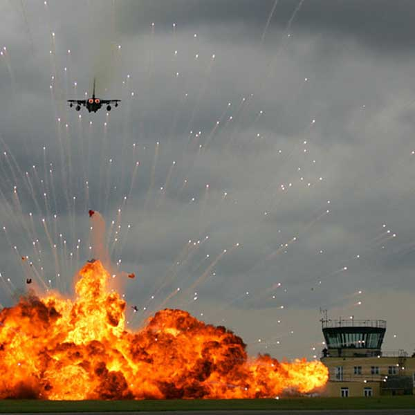 airstrike explosive special effects