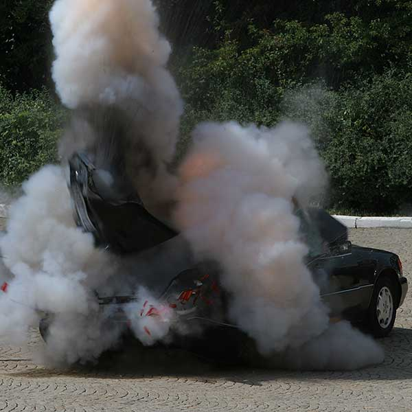 mercedes explosion special effects